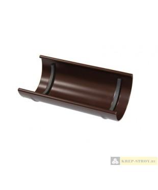 Соединитель желоба LINKOR (2 уплотнителя EPDM, 2 паза) (120, 150мм типоразмеры) (алюминий толщина 2 мм)