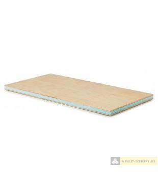 Сэндвич панель с фанерой (фанера+ XPS+ фанера) Руспанель, 1200x600x62